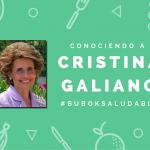 "Ebooks Cristina Galiano: ""Somos lo que comemos"""