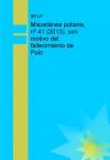 Miscelánea poliana, nº 41 (2013), con motivo del fallecimiento de Polo
