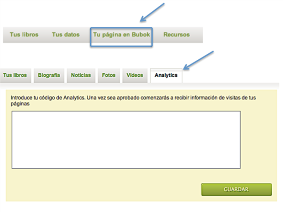 Google Analytics- Bubok