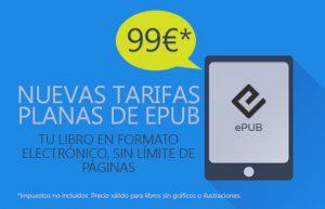 Tu libro en ePub, ahora más fácil. ¡Nuevas tarifas!