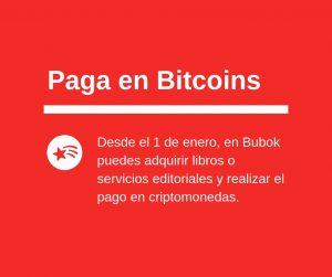 Pagar con bitcoins: ahora es posible en Bubok