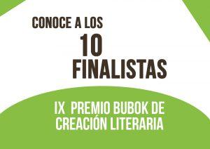 Diez finalistas del IX Premio de creación literaria Bubok