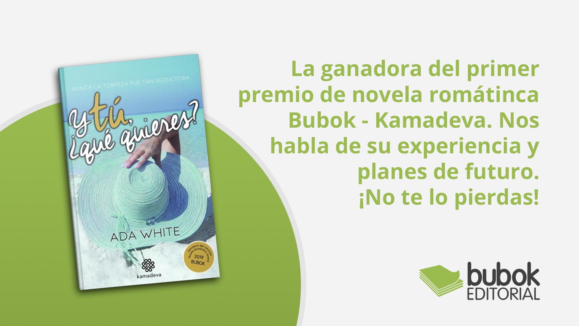 Entrevistamos a la ganadora del primer premio de novela romátinca Bubok - Kamadeva.