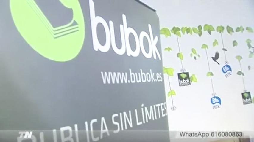 Bubok en el Día del libro 2017, entrevista en Telemadrid