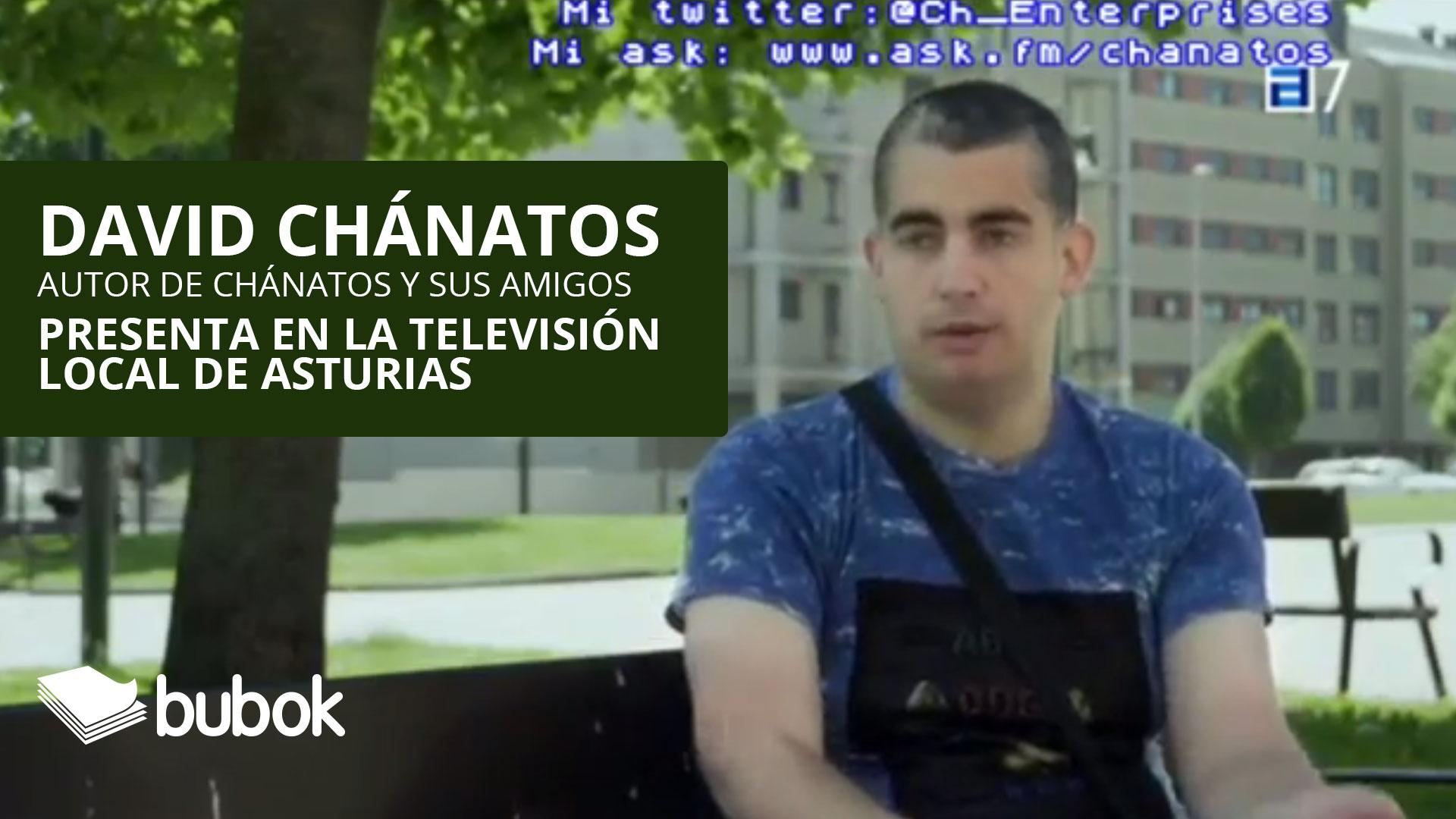 Nuestro autor David Chánatos presenta en la televisión local de Asturias