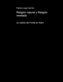Religión natural y Religión revelada; un indicio de Fichte en Kant