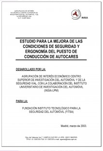 Estudio y ensayos para la mejora de las condiciones de seguridad y ergonomía del puesto de conducción de autocares