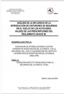 Análisis y ensayo de la influencia de cinturones de seguridad en vuelco de autocares (2001-2003)