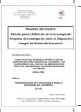 Definición tecnológica de un programa de investigación sobre el Diagnóstico Integral del estado del Automóvil (DINA )