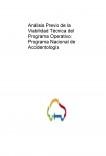 Análisis Previo de la Viabilidad Técnica del Programa Operativo: Programa Nacional de Accidentología