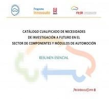 Catálogo cualificado de necesidades de investigación a futuro en el sector de componentes y módulos de automoción