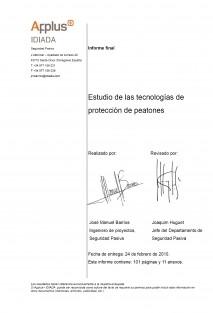 Estudio de las tecnologías de protección de peatones