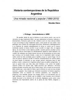 Historia Contemporánea de la Argentina