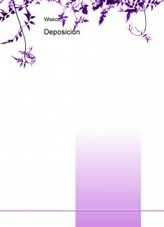 Deposición