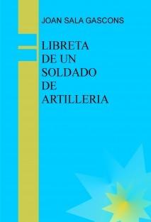 LIBRETA DE UN SOLDADO DE ARTILLERIA