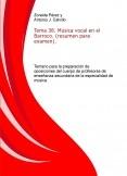 Tema 38. Música vocal en el Barroco. (resumen para examen). Temario para la preparación de oposiciones del cuerpo de profesores de enseñanza secundaria de la especialidad de música.