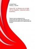 Tema 49. La Música en el siglo XIX en España. (resumen para examen). Temario para la preparación de oposiciones del cuerpo de profesores de enseñanza secundaria de la especialidad de música.