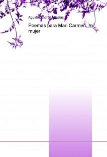 Poemas para Mari Carmen, mi mujer