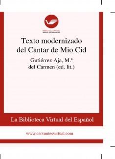 Texto modernizado del Cantar de Mio Cid