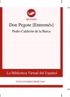 Don Pegote [Entremés]