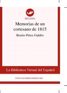 Memorias de un cortesano de 1815