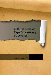 2009, la crisis en España: causas y soluciones.