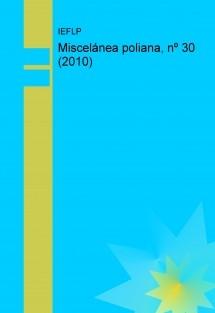 Miscelánea poliana, nº 30 (2010)