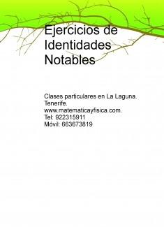 Ejercicios de Identidades Notables