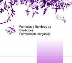 Fórmulas y Nombres de Oxoácidos