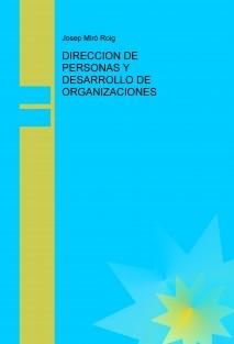 DIRECCION DE PERSONAS Y DESARROLLO DE ORGANIZACIONES