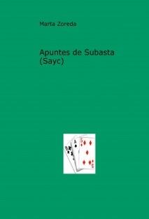 Apuntes de Subasta (Sayc)