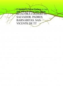 BITACORA COLEGIO EL SALVADOR. PADRES BARNABITAS. SAN VICENTE DE TT