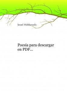 Poesía para descargar en PDF