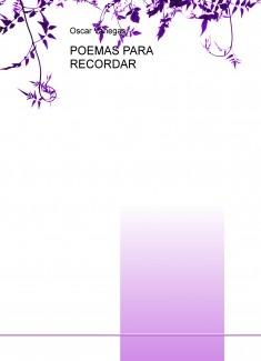 POEMAS PARA RECORDAR