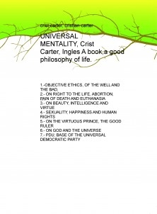 UNIVERSAL MENTALITY, Crist Carter, Ingles A book,a good philosophy of life