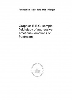 Graphics E.E.G. sample field study of aggressive emotions - emotions of frustration