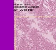 Aprendizajes Esperados 2011. Quinto grado.