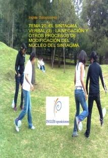 TEMA 20. EL SINTAGMA VERBAL (3) : LA NEGACIÓN Y OTROS PROCESOS DE MODIFICACIÓN DEL NÚCLEO DEL SINTAGMA.