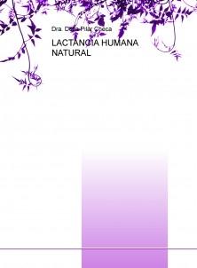 LACTANCIA HUMANA NATURAL