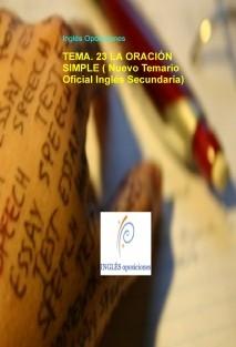 TEMA. 23 LA ORACIÓN SIMPLE ( Nuevo Temario Oficial Inglés Secundaria)