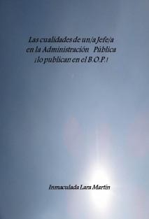 LAS CUALIDADES DE UN JEFE/A EN LA ADMINISTRACION PUBLICA ¡ Lo publican en el B.O.P. !