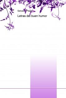 Letras del buen humor