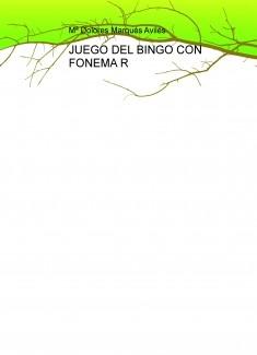 JUEGO DEL BINGO CON FONEMA R