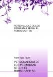PERSONALIDAD DE LOS PESIMISTAS SEGÚN EL RORSCHACH SC