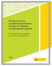 Libro 50 AÑOS DE CORTE CONSTITUCIONAL ITALIANA. 25 AÑOS DE TRIBUNAL CONSTITUCIONAL ESPAÑOL, autor Ministerio de Justicia