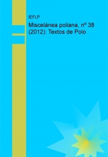 Miscelánea poliana, nº 38 (2012): Textos de Polo