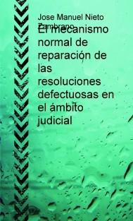 El mecanismo normal de reparación de las resoluciones defectuosas en el ámbito judicial