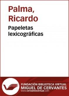 Papeletas lexicográficas