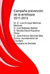 Campaña prevención de la ambliopía 2011-2012