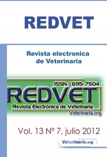 REDVET Vol. 13 Nº 7 Julio 2012 - Revista electrónica de Veterinaria ISSN 1695-7504